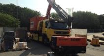 Kranarbeiten mit unserem Volvo FMX